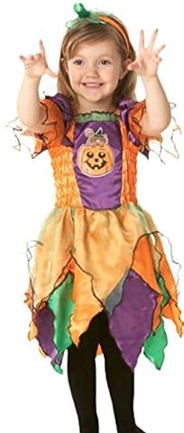 erdbeerloft - Mädchen Hexen Kostüm, Halloween, 2-teilig, 2-3 Jahre, Mehrfarbig
