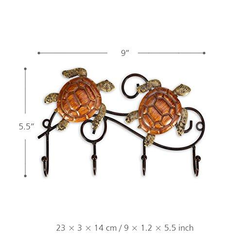 Tooarts Eisen Wand Kleiderbügel Vintage Design mit 4 Haken Mäntel Schlüssel Taschen Kleiderbügel an der Wand montiert dekorative (Metall-schlüssel-wand-dekor Große)