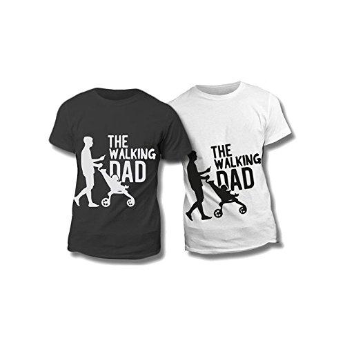Altra marca t-shirt uomo maglietta nera personalizzata the walking dad maglia maschile estiva idea regalo per la festa del papà - l