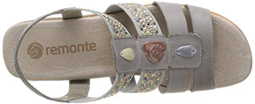 Remonte - R5255 42, sandali  da donna grigio(Grey (White Iron/Grau))