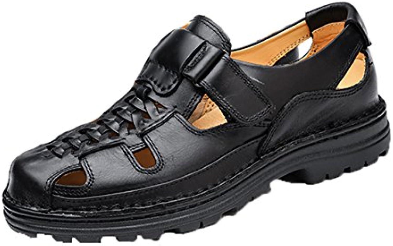 Insun Hombres Sandalias de Cuero Zapatos de Playa para los Hombres Zapatos de Verano