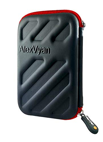 AlexVyan-Shock Proof External Hard Disk Case Protector for Seagate, WD, Transcend, Lenovo, Sony, Sandisk, Samsung External Drive(1TB 1 TB 2TB 2 TB 3TB 3 TB) Cover HDD Casing Bag Pouch Sleeve Enclosure