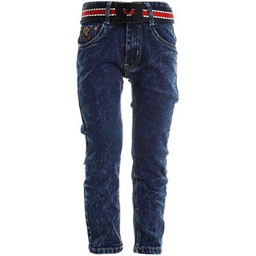 Kinder Jungen Jeans Hose Skinny Slim Fit Röhre Stretch Röhrenjeans Used 20705, Farbe:Blau;Größe:128 (Für Jungen Skinny-anzüge)