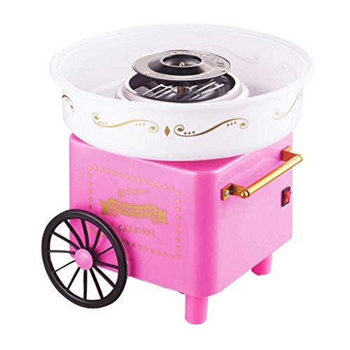 JCOCO Elektrische Zuckerwatte Maschine Kinder Süßigkeiten Floss Maker Hausgemachte Süßigkeiten Professionelle Zuckerwatte Maschine für Verkauf Heimgebrauch Karneval Party (Farbe : Rosa)