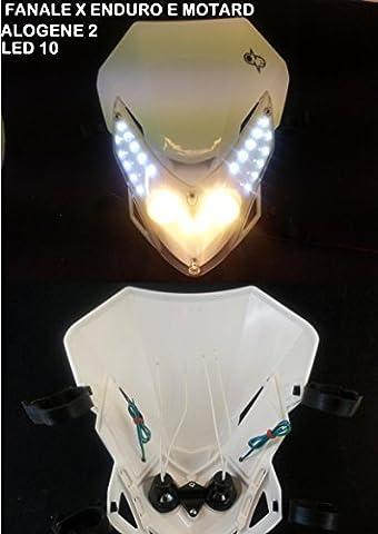 Lot de 2 masques de phare halogène universels pour Enduro,