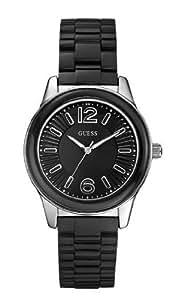 Guess - W85105L2 - Montre Femme - Quartz Analogique - Cadran Noir - Bracelet Plastique Noir