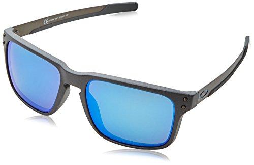 Oakley Herren Holbrook Mix 938410 Sonnenbrille, Braun (Steel), 57