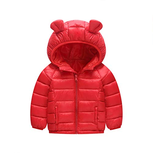 Baby Daunenjacke mit Kapuze Winter Mäntel Jungen Madchen Schneeanzüge Outfits 12-18 Monate (Mädchen Winter Mantel 14 16)