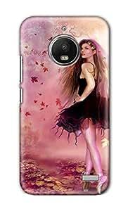SWAGMYCASE Printed Back Cover for Motorola Moto E4