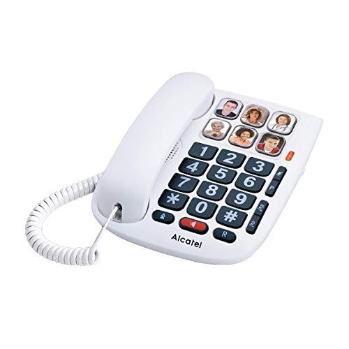 Teléfono fijo para mayores con teclas grandes