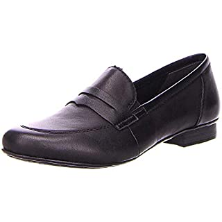 Rieker 51954-00 Damen klassischer Slipper aus Glattleder mit Antistress-System, Groesse 37, schwarz
