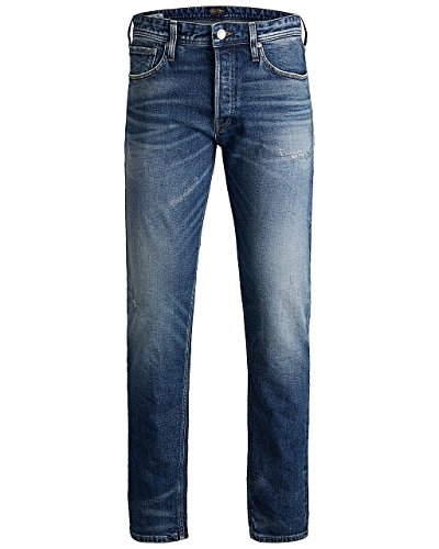 Jack & Jones Herren Jeans JJIFRED JJORIGINAL JJ 066 AW24 STS - Antifit - Blau - Blue Denim, Größe:W 27 L 30, Farbe:Blue Denim (12133100)