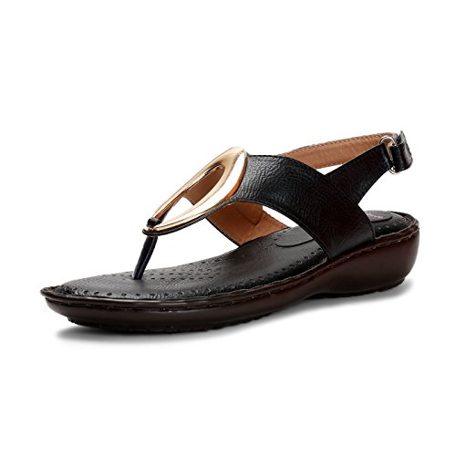 Meriggiare Women Synthetic Leather Black Flats 39 Eu