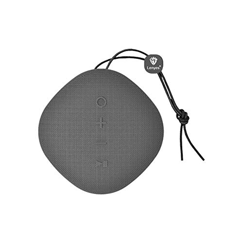 qiyanFor Lenyes Tragbarer Bluetooth-Lautsprecher S801 Kreativer tragbarer Lautsprecher Mini Im Freien Wasserdicht Stereo Wireless Palm Akustik-in Tragbare Lautsprecher Grau (Akustik-wireless-lautsprecher)
