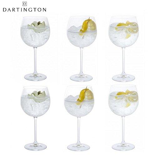 Dartington Crystal juego de 6copas de Gin y Tonic Copa 570ml en ca