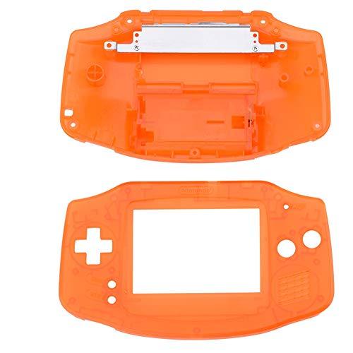 ASHATA Gba Gehäuse, Ersatz Gehäuse Shell Pack Vollständige Teile Ersatz Zubehör Shell Case,Ersatzteile Reparatur Ersatz Abdeckung Kit für Nintendo GBA Gameboy Advance(Orange)