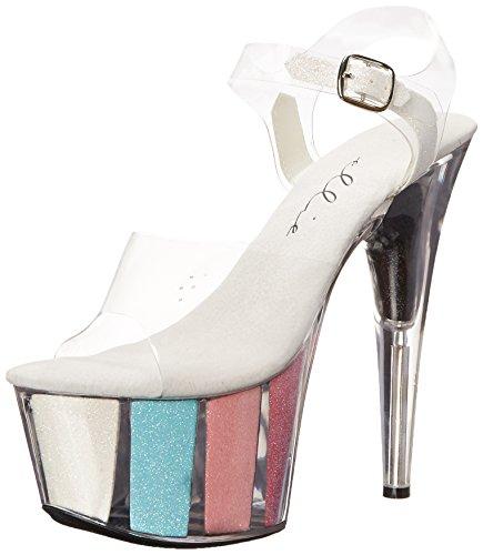 Ellie Shoes , Damen Sandalen Silber Silber, Mehrfarbig - Multi - Größe: 42