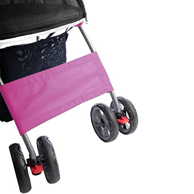 Leopet® Foldable Dog Pushchair with Shopping Basket Available in Several Colours