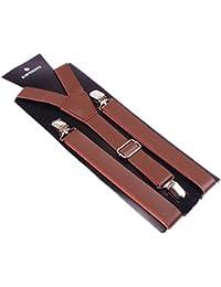 abd58f692a2b Panegy Bretelle Femme Y-back Réglable PU Cuir Style Simple Élégant avec 3  Clips Casual