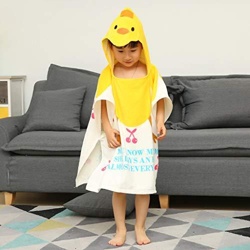 Tier Kapuze Baby-Handtuch Waschlappen Ultra Soft und Extra Large, 100% Baumwolle Bademantel for Dusche Geschenk for Jungen oder Mädchen (2-6 Jahre) (Color : Duck)