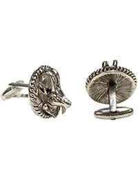 Alpenflüstern Trachten Capricorn Head Antique Silver Cufflinks Cuff Links API088