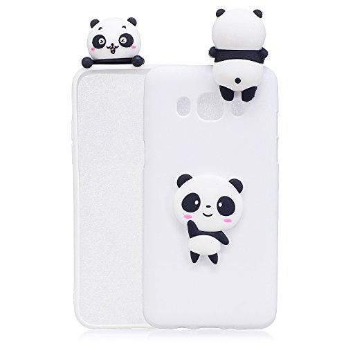 Xifanzi Weich Silikon Hülle für Galaxy J5 2016 Hülse 3D Panda Design TPU Zurück Bumper Schutzhülle Back CaseEtui Schön Ultra Schlank Hülse Gummi Dünn Handytasche Handyhülle für Samsung J510 Panda-design Hard Case