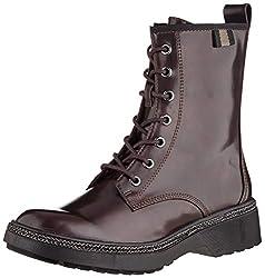 Tamaris Damen 1-1-25224-23 Biker Boots, Rot (Bordeaux Brush 547), 40 EU