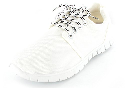 Damen Sport Running Go Walk Mesh Gym Leichtes Trainer UK Größen Weiß