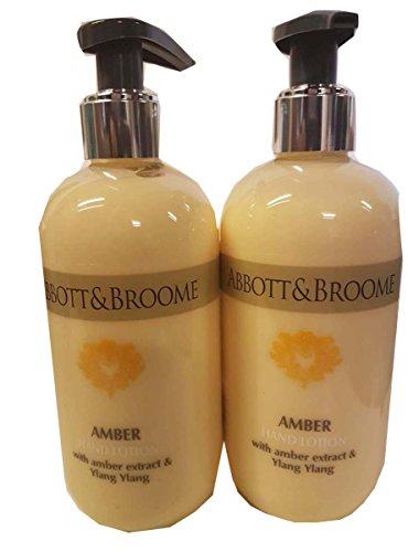 Abbott&Broome Amber 2 x Handlotion á 300 ml im Spender mit Bernstein-Extract und Ylang Ylang