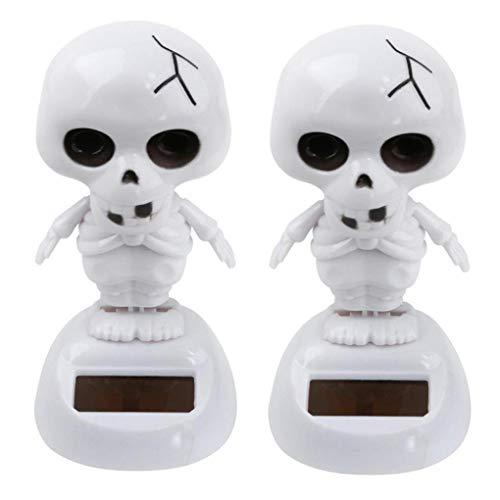 BZLine® Halloween Dekoration, 2 Stücke Solarbetriebene Tanzen Halloween Schwing Animierte Bobble Tänzerin Spielzeugauto Dezember