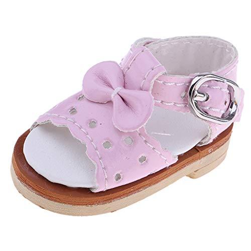 Baoblaze Scarpe Miniature Bowknot Sandali Calzini Sandals Abbellimenti Shoes Abbellimenti Regalo - Rosa
