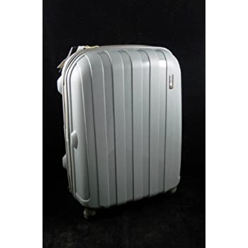 """Luggage X 'Virtually Indestructible Luggage' - 56cm (22"""") Hard Sided Grey Polypropylene Lightweight Trolley Suitcase - NEXT DAY DELIVERY*"""