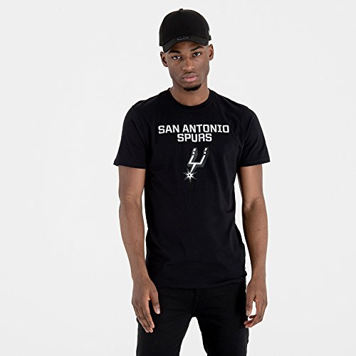 New Era San Antonio Spurs T-Shirt Herren, Schwarz, XXL (Antonio San Spurs-t-shirt)