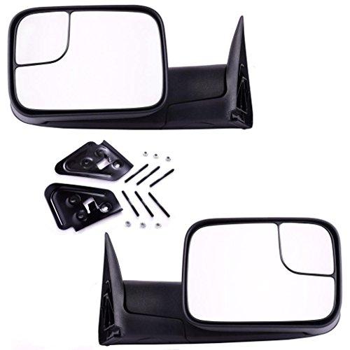 Tow Mirrors DEDC Dodge Dodge Ram 1500 2500 3500 Paar Kupplungsaktivierung Falten mit Halterungen für 1994-2001 Dodge Ram 1500 2500 3500 (Dodge Ram 1500 1998)