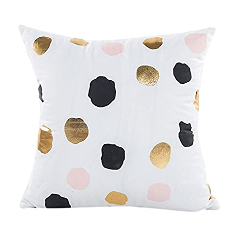 Vovotrade Heiß!!! Gold Folie Druck Kissenbezug Sofa Taille Throw Kissenbezug Home Decor(18X18