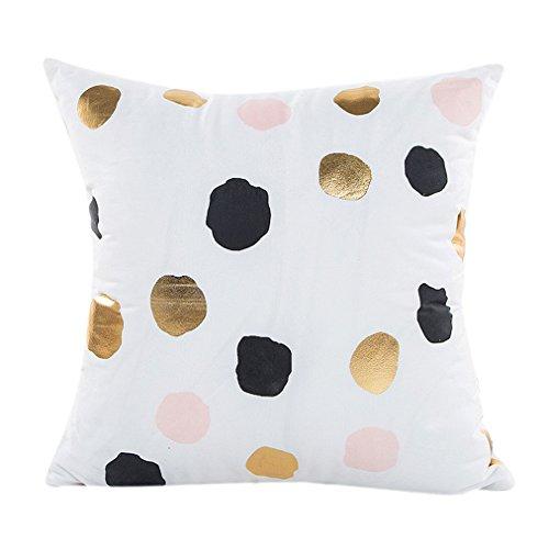 "Vovotrade Heiß!!! Gold Folie Druck Kissenbezug Sofa Taille Throw Kissenbezug Home Decor(18X18"") (Multicolor B)"