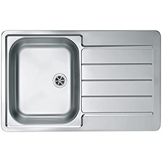 Alveus 18/10Stainless Steel Inset Sink with Reversible Drainer, TT, Line 80, 1Pack of 60, 79x 50cm 1065686