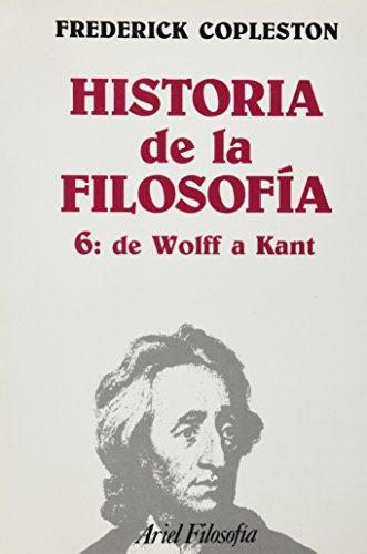 De Wolff a Kant (rústica) (Ariel Filosofia) por Frederick Copleston
