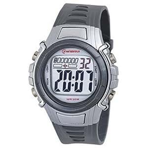 Montre digital Homme - bracelet Plastique Gris - Cadran Rond Fond Gris - Marque Mingrui - MR8515