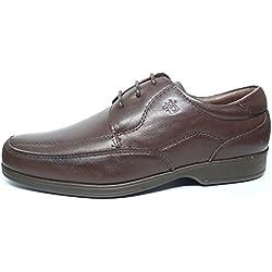 Zapatos hombre con cordones PITILLOS - Piel disponible en color marron y negro - 4001 - 11 10 (40, marron)