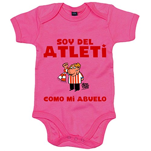 Body bebé Atlético de Madrid soy del atleti como mi abuelo - Rosa, 6