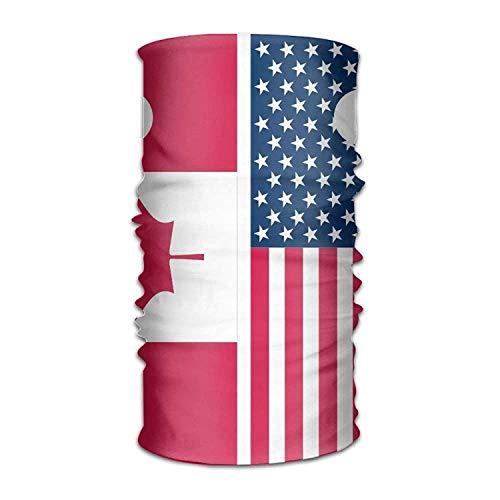 Preisvergleich Produktbild Miedhki Canada USA Flag Headwear Bandanas Seamless Headscarf Outdoor Sport Headdress Running Riding Skiing Hiking Headbands New4