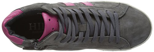 HIP H1046, Low-Top Sneaker Ragazza Grigio (Grau (18CO/84CO))