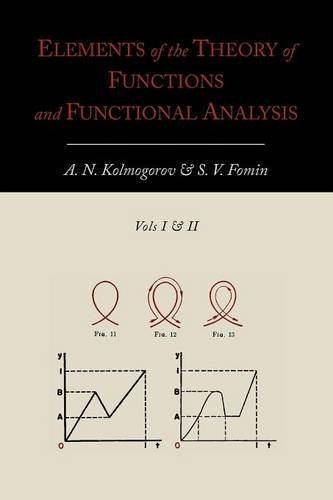 Portada del libro Elements of the Theory of Functions and Functional Analysis [Two Volumes in One] by A. N. Kolmogorov (2012-05-08)