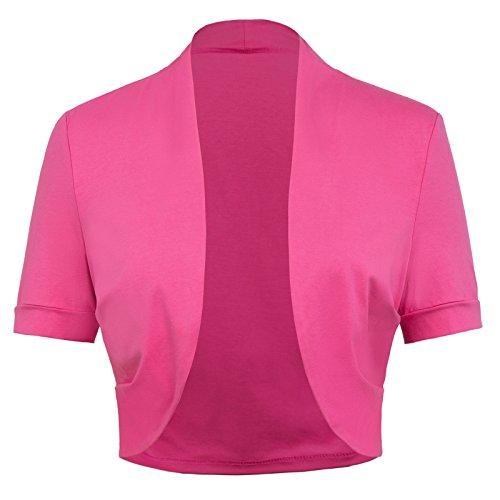 Damen Strickjacken Plus Size Sexy Pink JS215-6 (Mädchen Outfits Size Plus Für Sexy)