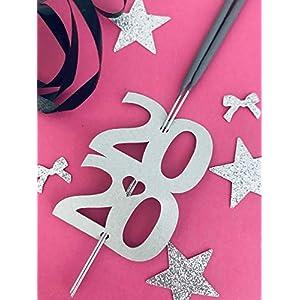 2020 Wunderkerzenhalter Wunderkerzen Happy New Year Frohes neues Jahr Glücksbringer Wunderkerze Silvester deko 2020 Neujahr/Silvester Dekoration ab 10 Stück