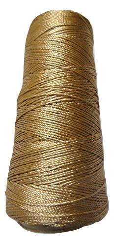 Desi Hawker 40 Farben - Viskose-Seidengarn - 275 m - Stickerei Häkelstrick Spitze Schmuck Trim Old Gold (Yellow) Gelb Gold Trim