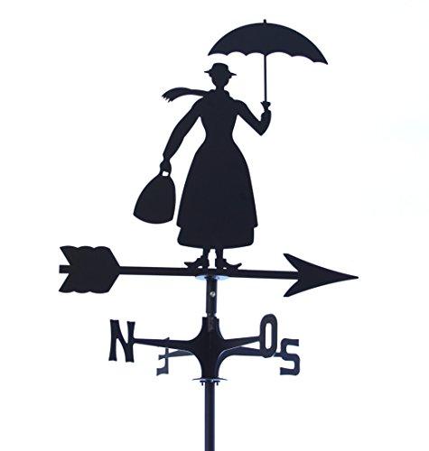 Wetterfahne markiert Wind Mary Poppins. Hergestellt In Italien.