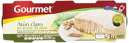 Gourmet Atún Claro en Aceite de Oliva - Pack de 3 x...