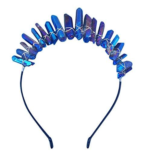 MIRRAY Hochzeit Stirnband Rockabilly Frauen NatüRliche Transparente Crystal Fashion Stirnband ZubehöR Haarband B